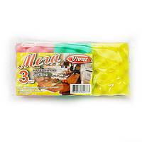 Губки кухонные Vivat Мега, упаковка — 3 шт