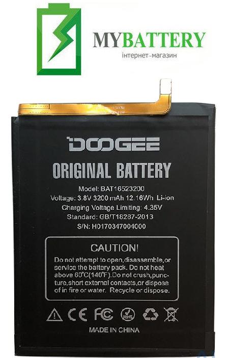 Оригинальный аккумулятор АКБ батарея для Doogee Y6 / Y6c 3200mAh 3.8V