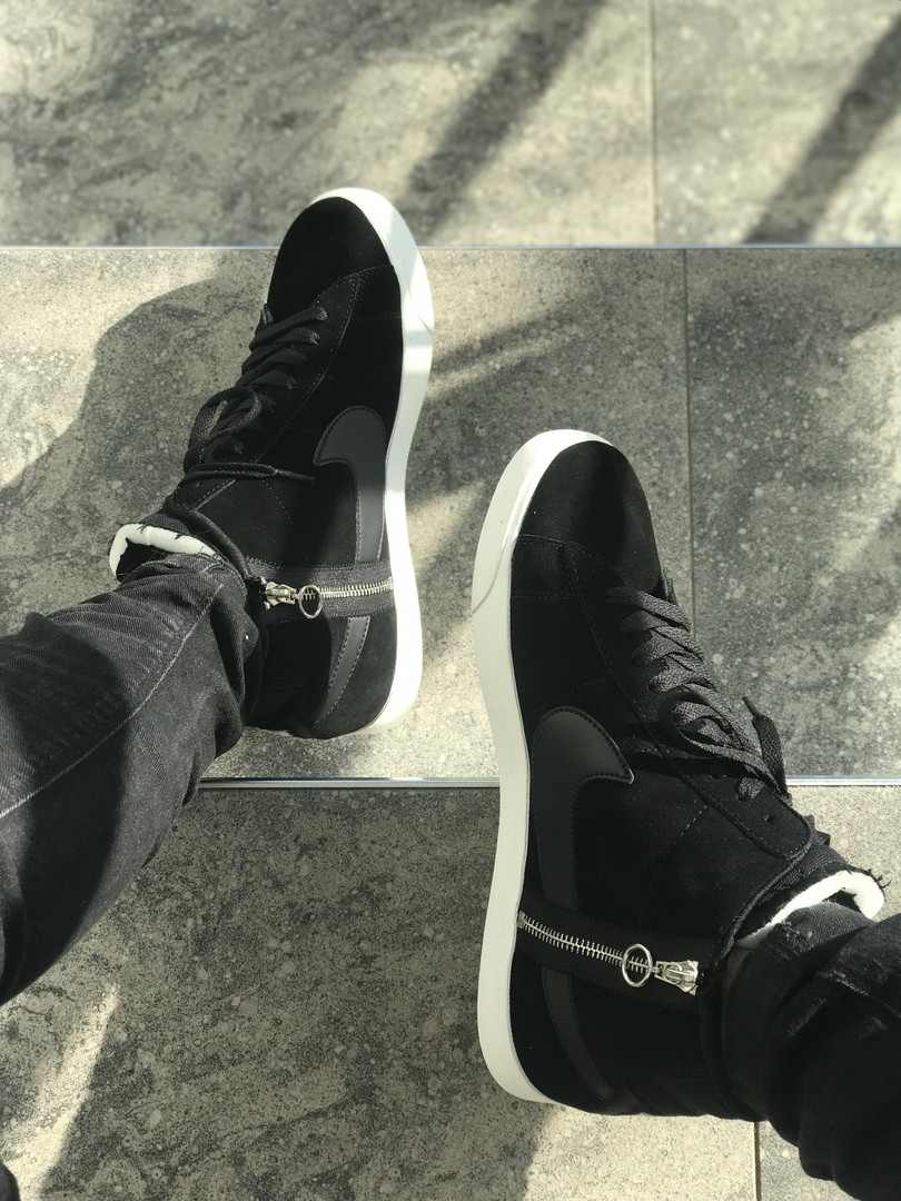Мужские кеды Nike Blazer Mid Black