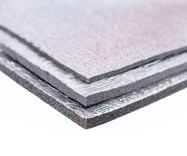 Хімічно зшитий пінополіетилен, т. 3 мм, фольгирован алюмінієвою фольгою, самоклейка 30 гр/м2, TERMOIZOL®