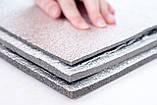 Химически сшитый пенополиэтилен, т. 3 мм,  фольгирован алюминиевой фольгой, самоклейка 30 гр/м2, TERMOIZOL®, фото 3