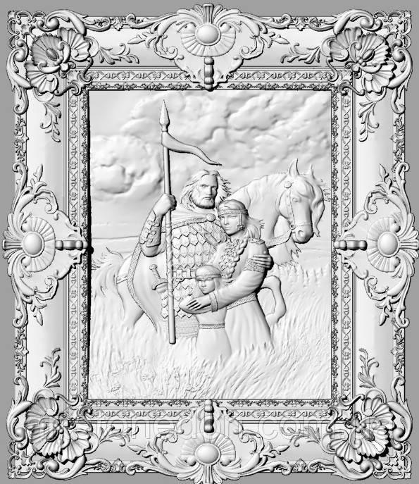 Картина резная Киевска Русь