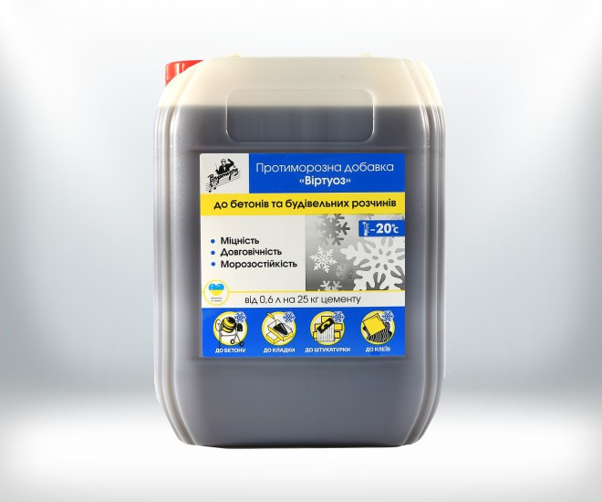 Противоморозная добавка в бетон Виртуоз 10 л