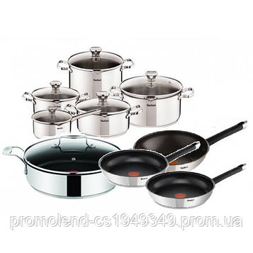 Набор посуды TEFAL DUETTO OLIVER 15 шт