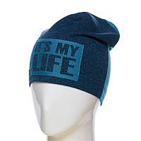 "Двоколірна шапка ""It s my life"", фото 1"