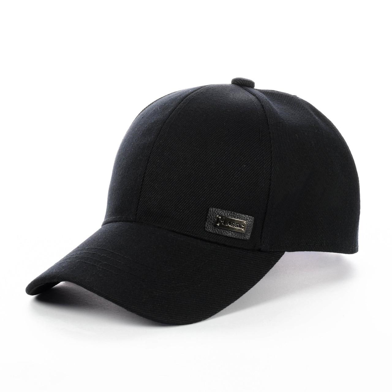 Кепка - Бейсболка черная classic