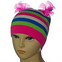 Детская демисезонная шапка с бантиками, фото 1