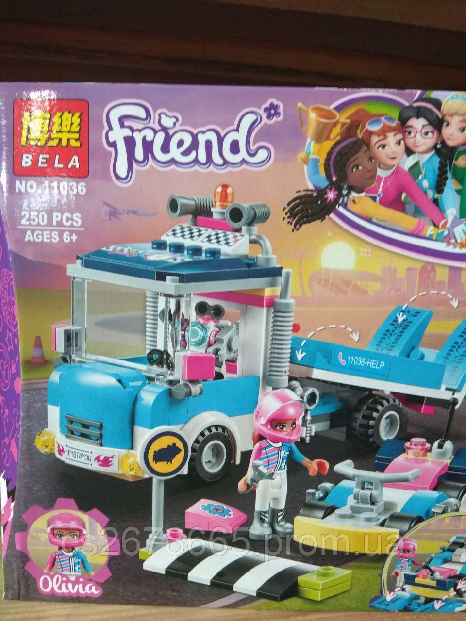 Конструктор Френдс 11036 (аналог Lego Friends 41348) «Грузовик техобслуживания» 250 дет.