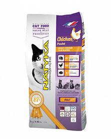 Гипоаллергенный корм Natyka(Натика) Adult Cat Сhicken для взрослых кошек с курицей, 2 кг