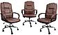 Кресло офисное вращающейся из кожи Бежевое Konsul 807 VIP, фото 2
