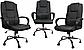 Кресло офисное вращающейся из кожи Бежевое Konsul 807 VIP, фото 4