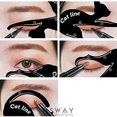 SA Макияж трафареты для подводки глаз Cat Line (2шт) , фото 3