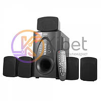 Колонки 5.1 F D F700X Black, сателлиты 5 x 10 Вт, сабвуфер 30 Вт, МДФ/ пластик, Bluetooth, USB ридер/SD/MicroSD/MS, питание от сети 220V, управление