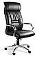 Кресло офисное кожаное Черное, фото 2