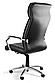 Кресло офисное кожаное Черное, фото 3