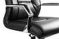 Кресло офисное кожаное Черное, фото 4