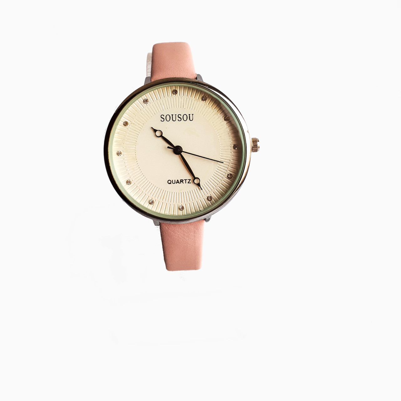 Часы женские Sou Sou shine кварцевые  на  ремешках Розовый