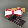 Галстук-бабочка I&M Craft в украинском стиле с вышивкой (010236)