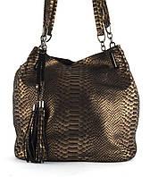 6178a8fe685d Стильная женская мягкая сумка из натуральной кожи с лазерной обработкой  PRINCESSA art. 7633