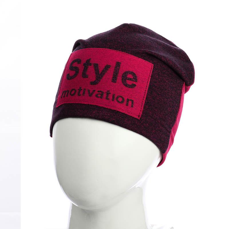 "Двухцветная шапка ""Style motivation"""