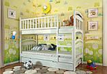 Двухъярусная кровать Arbordrev Смайл (80*190) сосна, фото 2