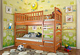 Двухъярусная кровать Arbordrev Смайл (80*190) сосна, фото 3