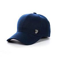 Кепка- Бейсболка cпатчем унисекс, темно-синий, фото 1