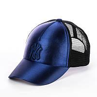 Кепка с сеткой - New York темно-синий