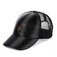 Кепка с сеткой - small rose черный, фото 1