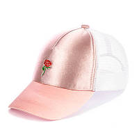 Кепка с сеткой - small rose пудра