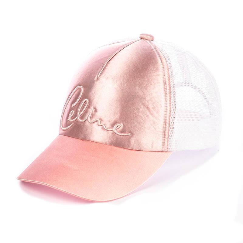 Кепка Бейсболка женская с сеткой Celine персиковый