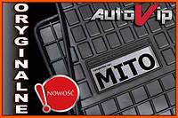 Резиновые коврики ALFA ROMEO MITO 08-  с логотипом, фото 1
