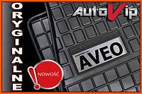 Резиновые коврики CHEVROLET AVEO 2011-  с логотипом, фото 1