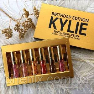 Набор стойких матовых помад Kylie Birthday Edition Gold