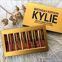 Набор стойких матовых помад Kylie Birthday Edition Gold, фото 1