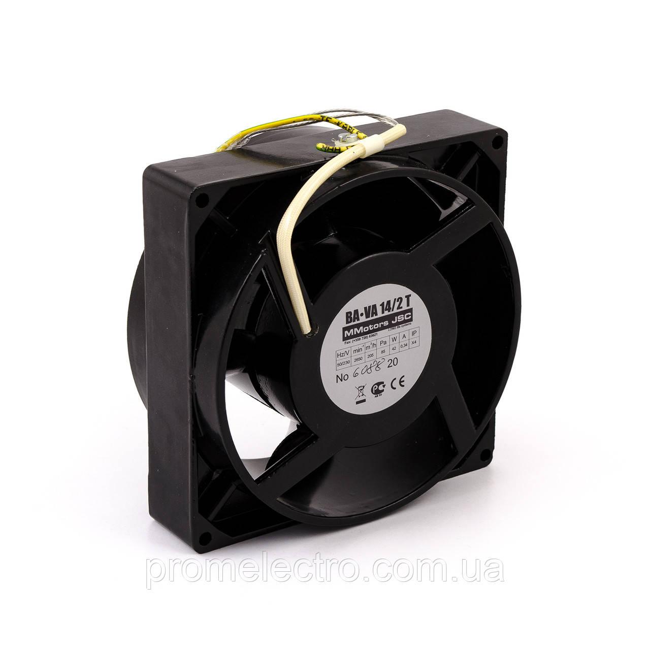 Осевой высокотемпературный вентилятор MMotors VA 14/2 (+140°С)