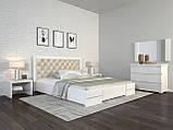 Кровать Arbordrev Регина люкс ромбы без ПМ (140*190) бук, фото 3
