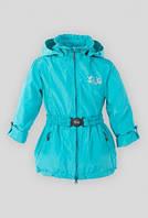 Куртка весна-осень для девочки с поясом