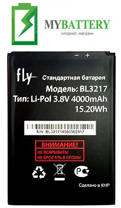 Оригинальный аккумулятор АКБ батарея для Fly IQ4502 Quad Era Energy 1 / BL3217 4000 mAh 3.8 V