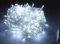 """Гирлянда """"String""""(Нитка)  комнатная хол/белый цвет 10м(100 led) прозрачный провод"""