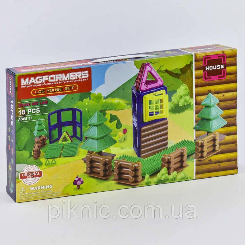 Конструктор магнитный Домик, 18 деталей. Детский игровой набор