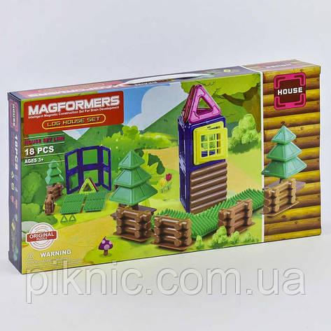 Конструктор магнитный Домик, 18 деталей. Детский игровой набор, фото 2