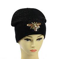 """Подростковая шапка из люрекса  """"Пчелка"""""""