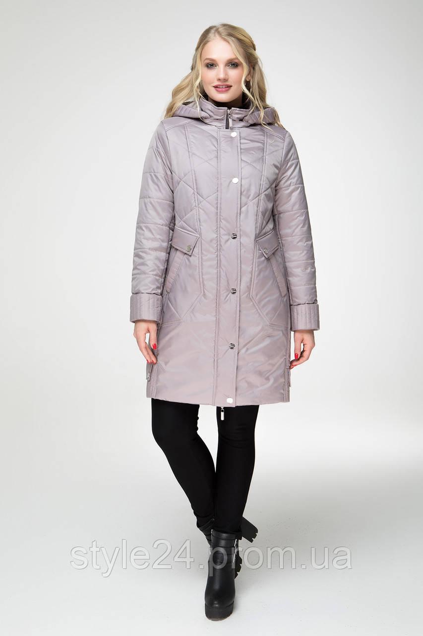 ЖІноча осіння куртка великих розмірів в клітинку (50 -60)  продажа ... 8fd096b6cc018