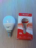 Светодиодная лампа Шар 5W Е14 2700k Lezard, фото 1