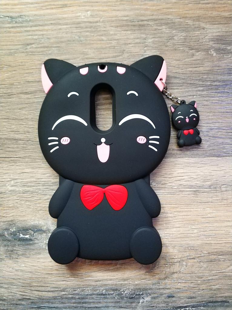 Объемный 3d чехол для Xiaomi Redmi 5 Кошечка черная