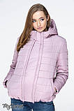 Демисезонная короткая куртка для беременных MARAIS OW-19.013, серо-розовая, фото 2
