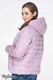 Демисезонная короткая куртка для беременных MARAIS OW-19.013, серо-розовая, фото 4