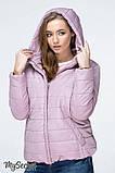 Демисезонная короткая куртка для беременных MARAIS OW-19.013, серо-розовая, фото 5