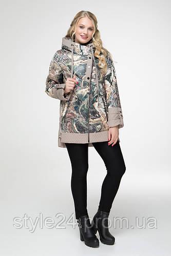 50225a3a6e102e ЖІноча осіння куртка великих розмірів з принтом (50 -60): продажа, цена в  Одесі. куртки жіночі от